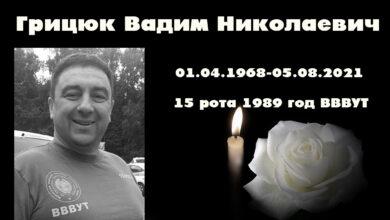 Photo of Грицюк Вадим Николаевич (01.04.1968-05.08.2021)